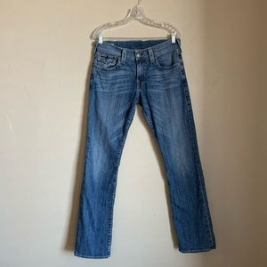True Religion Ricky relaxed straight fit jeans.